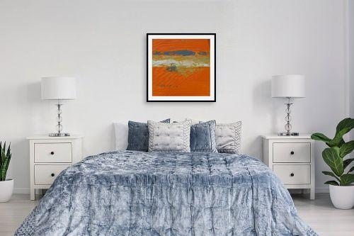 תמונה לחדר שינה - ורד אופיר - כתום - מק''ט: 284427