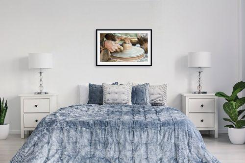 תמונה לחדר שינה - טניה קלימנקו - עבודת הקדר - מק''ט: 289627
