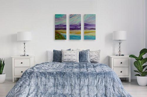 תמונה לחדר שינה - אסתר חן-ברזילי - הגבעות הסגולות 2 - מק''ט: 292243