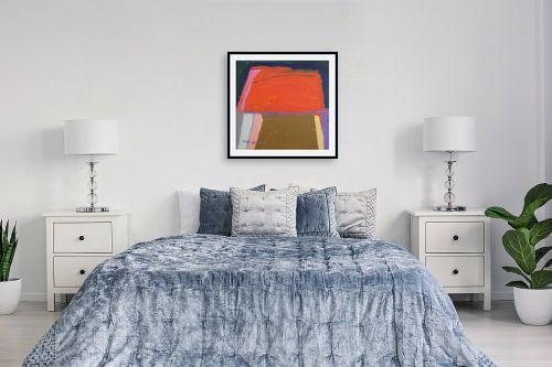 תמונה לחדר שינה - ורד אופיר - שלל צבעים - מק''ט: 292840