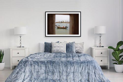 תמונה לחדר שינה - אבי סימן-טוב - סירה במסגרת - מק''ט: 315558