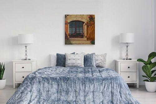 תמונה לחדר שינה - אסתר טל - גרניום בחלון - מק''ט: 316233
