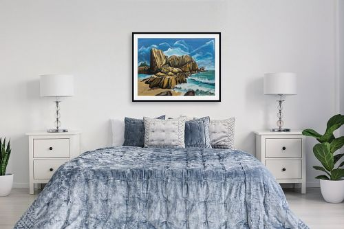 תמונה לחדר שינה - דיאנה אורן - סלעים  בים - מק''ט: 316286