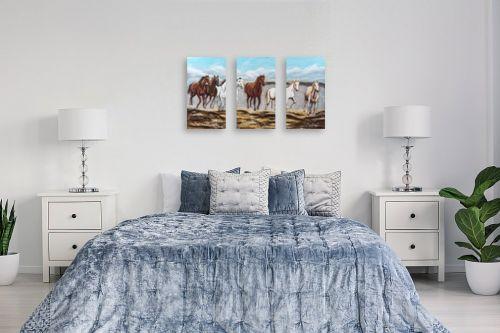 תמונה לחדר שינה - מזל בוכריס - דהרת סוסים - מק''ט: 316335