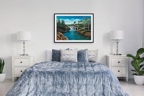 תמונה לחדר שינה - מזל בוכריס - מפל - מק''ט: 316341