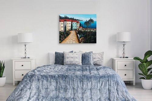 תמונה לחדר שינה - מזל בוכריס - עיירה באיטליה - מק''ט: 316369