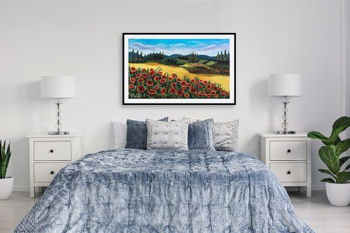 תמונה לחדר שינה - מזל בוכריס - כלניות אדומות - מק''ט: 316443