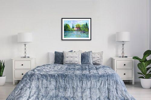 תמונה לחדר שינה - רוחלה פליישר - הבית באגם  - מק''ט: 319219