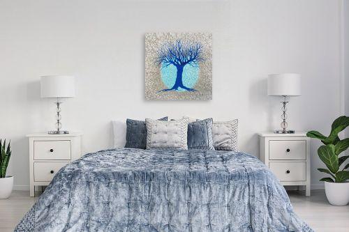 תמונה לחדר שינה - חני שפר - עץ ולבנה - מק''ט: 325519