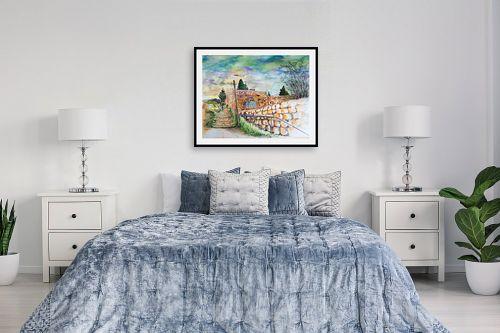 תמונה לחדר שינה - חיה וייט - מדרגות עין כרם  - מק''ט: 326513