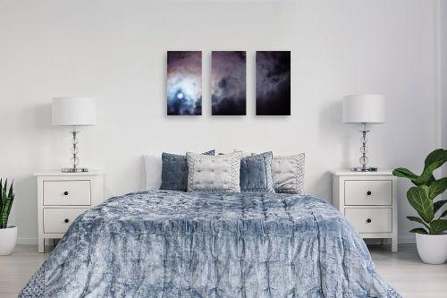 תמונה לחדר שינה - איה אפשטיין - ירח בעננים - מק''ט: 327135
