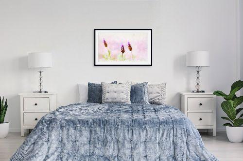 תמונה לחדר שינה - נעמי עיצובים - זוג פרחים - מק''ט: 329598