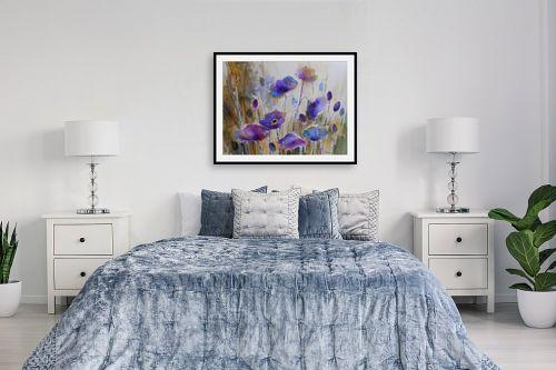 תמונה לחדר שינה - נטליה ברברניק - שדה כחול - מק''ט: 330389