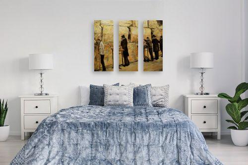 תמונה לחדר שינה - שמואל מושניק - תפילה בכותל - מק''ט: 331756