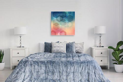 תמונה לחדר שינה - Artpicked - גיאומטרי שמימי - מק''ט: 331772