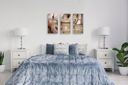 תמונה לחדר שינה - אורלי שטטינר - כד חימר עבודת יד - מק''ט: 332031