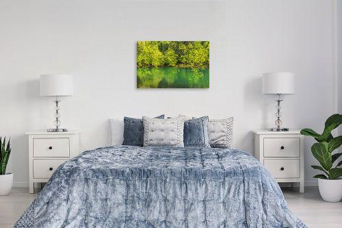 תמונה לחדר שינה - דורית ברקוביץ - גוונים של ירוק - מק''ט: 333396