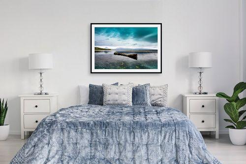 תמונה לחדר שינה - שי וייס - ענף צף - מק''ט: 333399