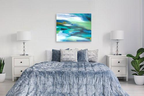 תמונה לחדר שינה - Artpicked - נוף בכחול - מק''ט: 334870