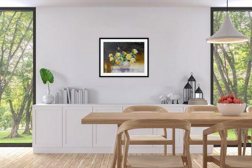 תמונה לפינת אוכל - נטליה ברברניק - יופי בצבע צהוב - מק''ט: 122164