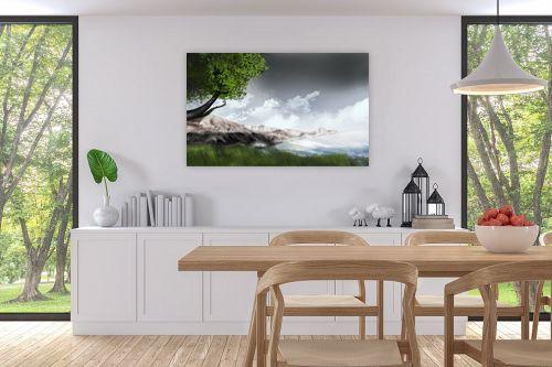 תמונה לפינת אוכל - Red סטודיו - mountains - מק''ט: 132115