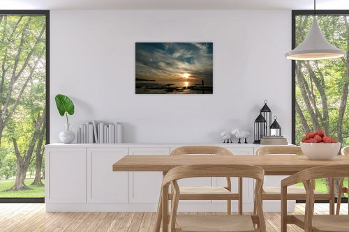 תמונה לפינת אוכל - אבנר ירון - שקיעה בחוף פלמחים - מק''ט: 14087