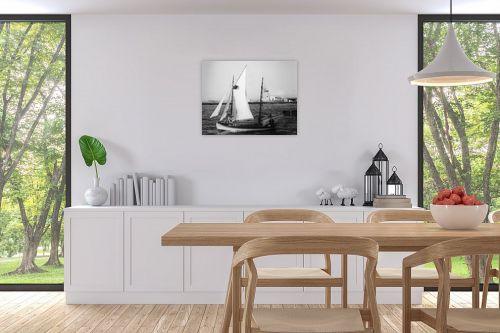 תמונה לפינת אוכל - דוד לסלו סקלי - תל אביב 1939 סירת מפרש - מק''ט: 143083