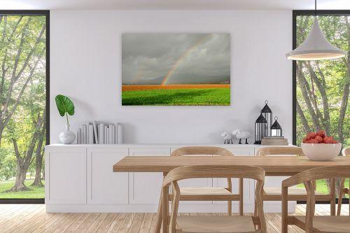 תמונה לפינת אוכל - אייל הצפון - קשת בשדה ירוק - מק''ט: 155960