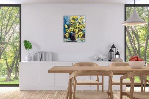 תמונה לפינת אוכל - שולי חיימזון - פרחים - מק''ט: 174947