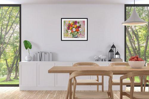 תמונה לפינת אוכל - שולי חיימזון - פרחים - מק''ט: 174952