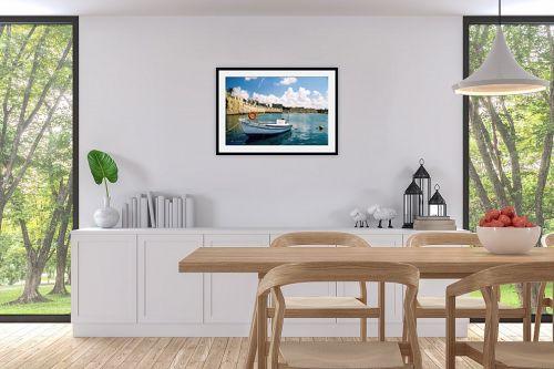 תמונה לפינת אוכל - קובי פרידמן - סירה בעכו - מק''ט: 19661