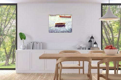 תמונה לפינת אוכל - חיה וייט - סירות דייגים - מק''ט: 213274