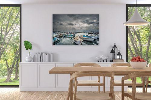 תמונה לפינת אוכל - רן זיסוביץ - נמל עכו - מק''ט: 221891