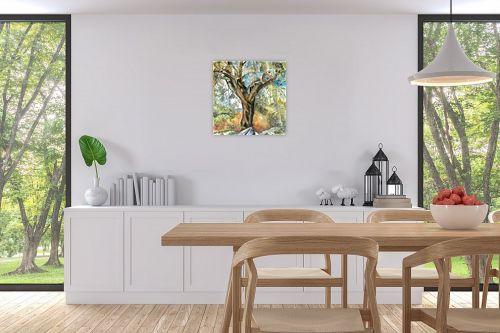תמונה לפינת אוכל - חיה וייט - עץ זית עתיק - מק''ט: 229911