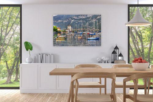 תמונה לפינת אוכל - אורי ברוך - מעגן סירות - אגם קומו - מק''ט: 240486