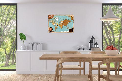 תמונה לפינת אוכל - מפות העולם - Pirates map - מק''ט: 240814