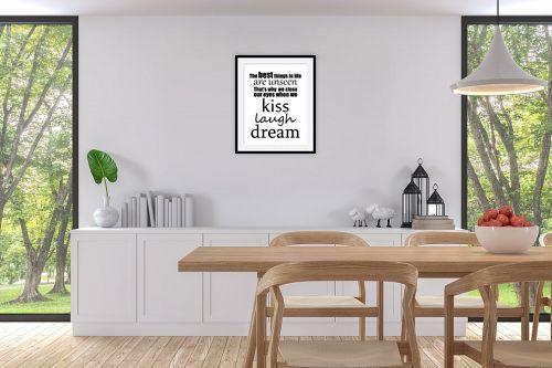 תמונה לפינת אוכל - מסגרת עיצובים - Best things - מק''ט: 241112
