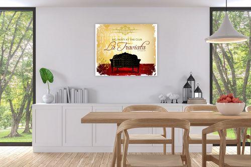 תמונה לפינת אוכל - רוזה לשצ'ינסקי - La Traviata - מק''ט: 279294