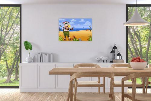 תמונה לפינת אוכל - חנן אביסף - בלה הפרה בחוף של הוואי - מק''ט: 287914