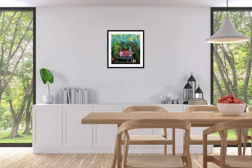 תמונה לפינת אוכל - ורד אופיר - בונגלו ביער - מק''ט: 296443