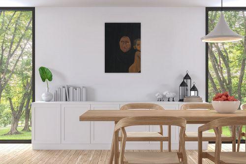 תמונה לפינת אוכל - אסתר טל - דמות בשחור 1 - מק''ט: 316218