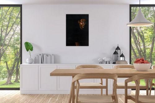 תמונה לפינת אוכל - אסתר טל - דמות בשחור 5 - מק''ט: 316415