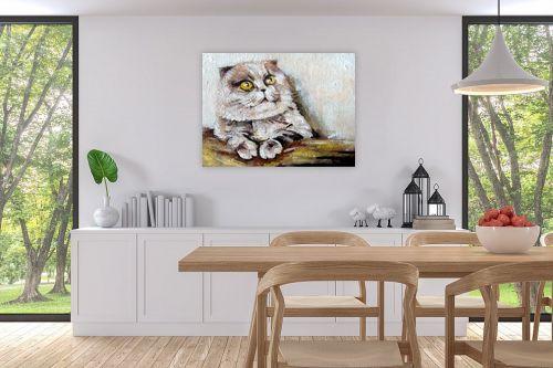 תמונה לפינת אוכל - מריאנה קיידלוב - חתול שלי - מק''ט: 319109