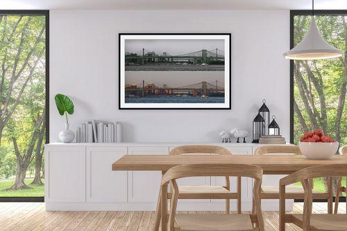 תמונה לפינת אוכל - אלי נגר - גשר ברוקלין - מק''ט: 320306