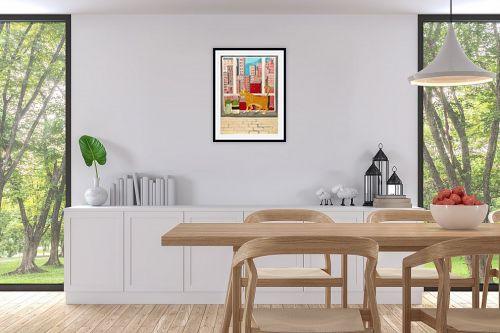 תמונה לפינת אוכל - MMB Art Studio - Concrete Jungle   - מק''ט: 325652