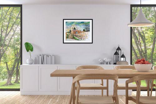 תמונה לפינת אוכל - חיה וייט - מדרגות עין כרם  - מק''ט: 326513