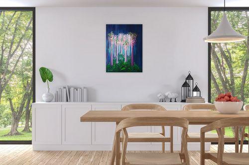 תמונה לפינת אוכל - אורית גפני - אור ביער - מק''ט: 330330