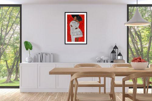 תמונה לפינת אוכל - נטליה ברברניק - אהבה ורימונים אדומים - מק''ט: 330408