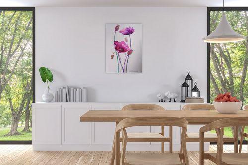 תמונה לפינת אוכל - נטליה ברברניק - פרחים סגולים - מק''ט: 330588