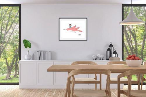 תמונה לפינת אוכל - Artpicked - לעוף עם הדמיון - מק''ט: 331744